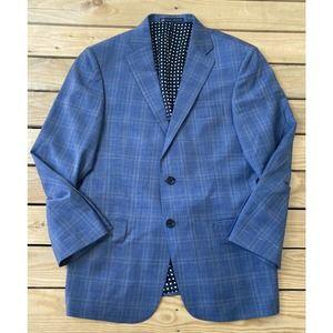 New HART SCHAFFNER MARX Plaid Wool Suit Jacket 34